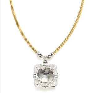 CHARRIOL WHITE TOPAZ 18k Gold & Steel Necklace!!!